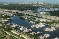 New River South Fork (formulanone) Tags: florida fortlauderdale windowseat aerialphoto i95 interstate95 newriver bridge marina