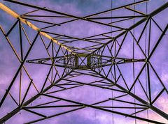 tower of power vz (gotmyxomatosis69) Tags: powerlines power electricity electricaltower geometric linear lines powerline tower metal shapes geometricshapes geometry triangles sky skyscape skyporn clouds canon teamcanon