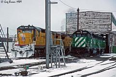 Not the Camas Prairie (C.P. Kirkie) Tags: bn burlingtonnorthern railroad trains up unionpacific detour gn snow emd ge