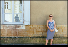 160824-0590-XM1.jpg (hopeless128) Tags: female france portrait reflection sacha eurotrip wall karim woman 2016 champagnemouton aquitainelimousinpoitoucharen aquitainelimousinpoitoucharentes fr