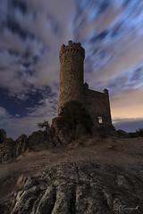The princess tower (Darkflip) Tags: fotografanocturna linternas largaexposicin luisjdelafuente tomassanchez cristinagarciaceleiro carrasquilla clouds cielo castillo espaa luces del pasado