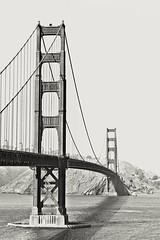 Golden Gate (Fabio Enrico Spagnoli) Tags: bridge sanfrancisco usa internationalorange bay pacificocean iron landscape blackandwhite monocromatico biancoenero monochrome architecture california urban city ocean