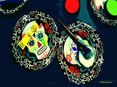Dias de los Muertos #painting (Stephenie DeKouadio) Tags: color diasdelosmuertos painting art colour allsaints abstract abstractart diadelosmuertos