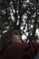 Chiara #3 (edgardomaxia) Tags: people beautiful beauty wood autumn portrait girl cute pretty eyes red green hair bokeh 50mm