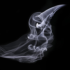 The Raven's Ghost (zuni48) Tags: smoke smokeart macro macromondays abstract monochrome closeup squarecrop blackbackground spookyandfrightful