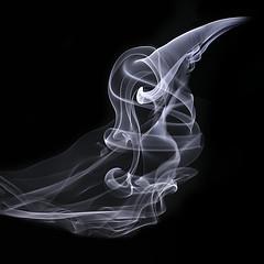 The Raven's Ghost (zuni48) Tags: smoke smokeart macro macromondays abstract monochrome closeup squarecrop blackbackground spookyandfrightful