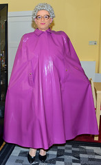 Ingrid023310 (ingrid_bach61) Tags: dress kleid buttonthrough durchgeknöpft pleatedskirt faltenrock mature cape