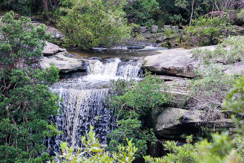Piles Creek waterfall from Bundilla Lookout