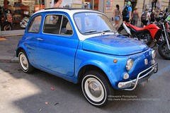 Rome, Fiat 500 in blue metallic (blauepics) Tags: italien italy italia rom rome roma city stadt auto automobile car vehicle fahrzeug fiat 500 cinquecento blue blau metallic