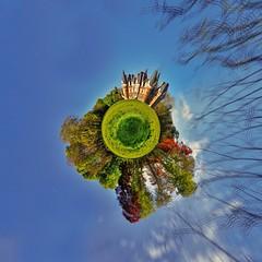 Magical world (~ Jessy Simon ~) Tags: nikon nikkor 18105 panorama d5000 planet rollworld castle scape landscape blue ciel sky bleu green grass trees tree