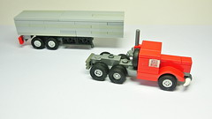 How to Build a Lego Truck with Trailer (MOC) (hajdekr) Tags: lego small 3studs microscale micro simple toy moc myowncreation creation inspiration truck camion vehicle automobile trailer transport spedition 3x semitrailer tractor tractortruck tutorial assemblyinstructions guide buildingguide instruction instructions stepbystep help tip tuto manual
