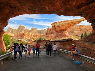 Walking into Cars Land
