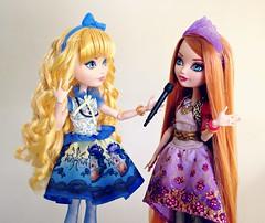 Just Right - with Holly O'Hair (honeysuckle jasmine) Tags: mattel ever after high blondie lockes goldilocks holly ohair rapunzel princess fairytale school doll dolls