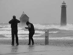 DSCN7818 (John Rothwell) Tags: grandhaven michigan gale waves november winter fall cold nasty windy lakemichigan lake lighthouse pier