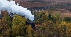 Jacobite / Harry Potter Train / Glenfinnan Viaduct - Scotland (Jan Hoogendoorn) Tags: scotland unitedkingdom gb viaduct trein train jacobite harrypotter glenfinnan