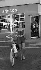 Blonde and her bike (Wookiee!) Tags: blond blonde blondie pretty knap beauty schoonheid woman vrouw meisje girl fit legs benen summer zomer hot heet bw zw zwart wit blackandwhite noiretblanc schwarzweis monochrome candid canon d550 dslr 35mm lens city stad life leven bike bicycle streetphotography straatfotografie street straat den bosch shertogenbosch duketown noordbrabant the netherlands nederland dutch nederlands holland nl 073 wwwgevoeligeplatennl