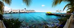 Cozumel Mexico (Baja Juan) Tags: royal caribbean cruises cozumel mexico cruise ships docked port palm trees coconut palms blue sea water tropical s7edge cellphone baja