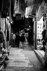 DSCF9674 (Joshua Williams' Photography) Tags: jerusalem israel bw night oldcity