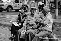Street 215 (`ARroWCoLT) Tags: bench bahariye streetphotography sokak canon 700d istanbul white man sitting old people blackwhite bw art insan human arrowcolt monochrome 50mm f18 bnwdemand bnwpeople bnw bnwstreet ishootpeople kadıköy bokeh dof blackandwhite outdoor chat sohbet