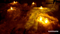 Snow Forts (rumimume) Tags: potd rumimume 2016 niagara ontario canada photo canon 80d sigma christmas holiday celebration lights light night candle flame outdoor snow