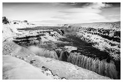 Gullfoss (chris.lynn) Tags: gullfoss iceland waterfall waterfalls blackwhite landscape water snow ice