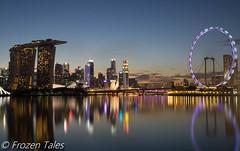 Marina Bay Sand & Singapore Flyer (FrozenTales) Tags: marinabay mbs singaporeflyer marina bay sand gardenbythebay singapore landscape