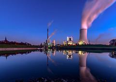 Kraftwerk Walsum (st.weber71) Tags: kraftwerk kohle walsum spiegelung nrw wasserspiegelung blaue stunde blue hour
