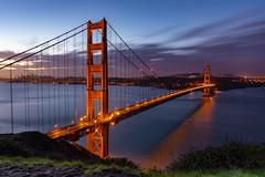 Golden Gate Bridge (Amar Raavi) Tags: goldengatebridge goldengate sanfrancisco dawn clouds cityscape bridge architecture iconic scenic landmark sanfranciscobay bayarea california outdoors batteryspencer sausalito goldengatenationalrecreationarea suspensionbridge longest wondersoftheworld longexposure
