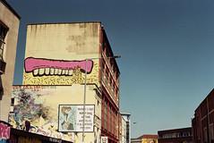 Sweet Toof (Walt Jabsco) Tags: streetart bristol graffiti pentax kodak pentaxk1000 stokescroft jamaicastreet sweettoof kodakcolourplus
