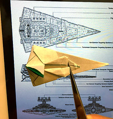 I'm trying to design new Real-angled version Star destroyer origami ! (Matayado-titi) Tags: starwars origami space destroyer spaceship starship stardestroyer sugamata