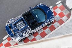Roofless - Vitesse #001 (Slybreton) Tags: blue white speed or montecarlo monaco carlo monte bugatti blanc 001 veyron vitesse carspotting orblanc