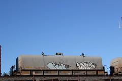 09212015 370 (CONSTRUCTIVE DESTRUCTION) Tags: train bench graffiti streak tag picture boxcar graff piece moniker benched