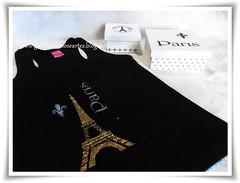 Conjunto de camiseta e caixas pintadas - tema Paris (Galeria Mimos e Artes) Tags: camiseta pintura mdf camisetas pinturaemmadeira pinturaemmdf camisetapintada