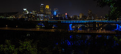 Last Night of Summer in Minneapolis (twinsfan7777) Tags: city bridge summer sky panorama building skyline night last skyscraper canon cityscape minneapolis