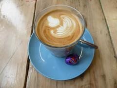 Latte art, Beany Green (duncan) Tags: coffee caffelatte latte latteart flatwhite beanygreen