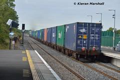IWT passes Hazelhatch, 17/9/15 (hurricanemk1c) Tags: irish train gm rail railway trains railways irishrail generalmotors 218 2015 emd hazelhatch 071 iarnród éireann iarnródéireann iwtliner 0935northwallballina industrialwarehousingandtrading hazelhatchandcelbridge