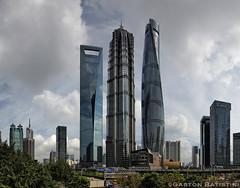 New Shanghai skyline, Pudong, Shanghai World Financial Center SWFC  , Shanghai Tower  , Jin Mao Tower  , China (Gaston Batistini) Tags: china shanghai pudong jinmaotower  swfc batistini shanghaitower shanghaiworldfinancialcenter  gbatistini  gastonbatistini