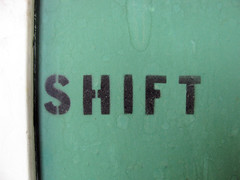 SHIFT (Eyellgeteven) Tags: old abstract black green stain sign word stencil letters shift stained spraypaint abstraction lettering stencilled eyellgeteven