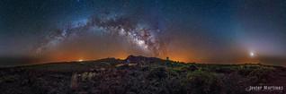 Vía láctea observatorio Roque de los Muchachos