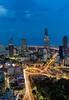 Saigon Lights - Vietnam, HCMC (Nomadic Vision Photography) Tags: skyline modern cityscape vietnam citylights bluehour viewpoint saigon hochiminhcity twighlight jonreid commercialzone tinareid nomadicvisioncom
