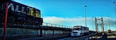 Pegando la vuelta (Miradortigre) Tags: road bridge ruta train truck tren puente flickr ponte camion estrada rodovia mercosul mercorsur
