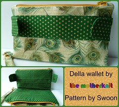 Feather Della (The_Motherknit) Tags: swoon wallet sewing purse wristlet swoonpattern dellawallet