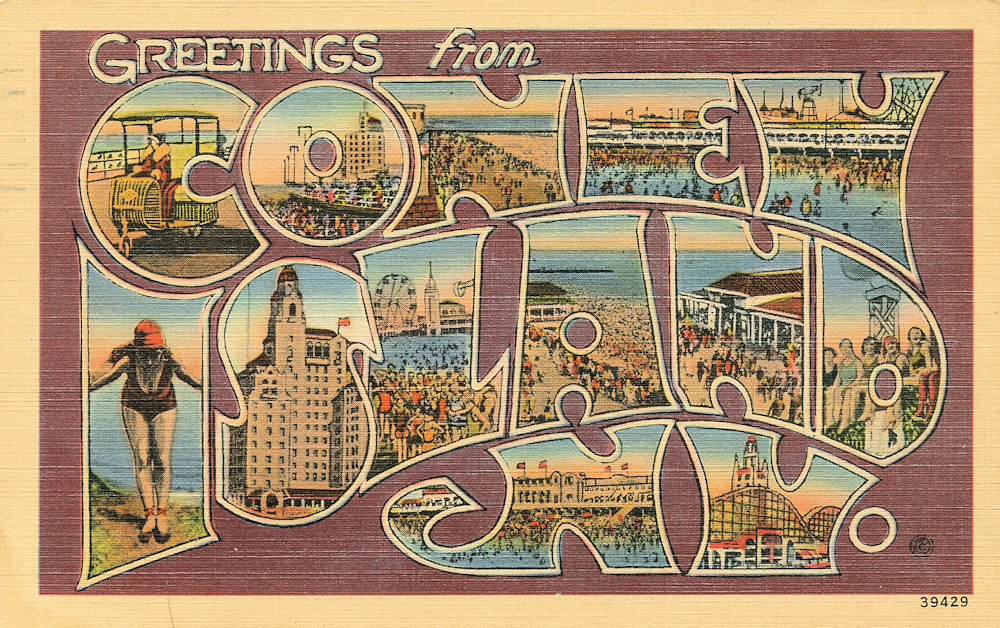 The worlds best photos of coneyisland and postcards flickr hive mind greetings from coney island new york large letter postcard shook photos tags m4hsunfo