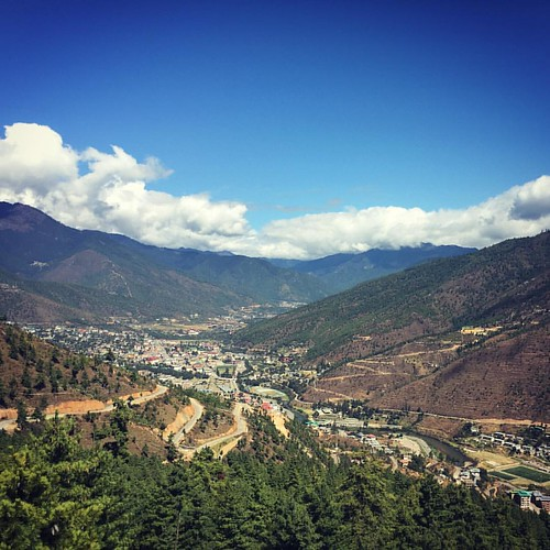 Breathtaking #Bhutan. You are here. #thimphu #shock #love