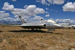 XF4D-1 Skyray BuNo 124587 (skyhawkpc) Tags: california ca copyright aircraft aviation navy 1997 douglas naval usnavy chinalake crusader usn allrightsreserved skyray vought ptmugu airfoto pmtc f4d1 145072 145528 xf4d1 124587 joecupido df8l accompoundsouthofarmitage pmtc105