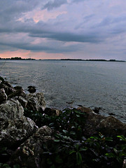 Lake Erie 22 August 23 2015 (lillith_complex) Tags: sky cloud water clouds rocks lakeerie stones sho waterscape hor