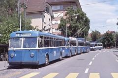 1989-06, VBZ, Schlieren Zentrum (Fototak) Tags: bus mercedes switzerland 8 111 zürich autobus trolleybus filobus 239 vbz fbw ligne31 hochlenker