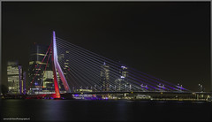 rotterdam-Paris_HDR2 (janvanderveenPhotography) Tags: blue red white paris france netherlands colors night canon rotterdam long exposure terminal montevideo avond kpn hdr erasmusbrug crouse fransevlag derotterdam