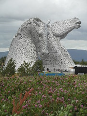 The Kelpies revisited (bryanilona) Tags: scotland wildflowers clover falkirk clydesdalehorses abigfave thekelpies