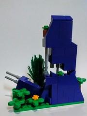 Crumbling Purple LEGO Wall (wesleyobryan) Tags: city overgrown wall purple lego future vignette apocalego